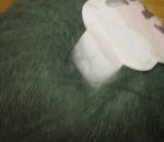 Lovely green in this mohair