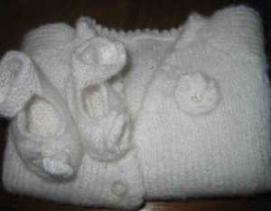 Emma Rose christening shoes and top